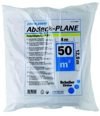Abdeckplane, Extra Stark 50 Breite  x Länge 4 x 12,5 m Dicke ca. 50 my  VE=5 St