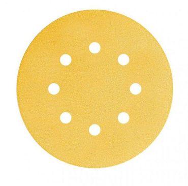 MIRKA Scheiben Gold Ø 125 mm GRIP P60 8-fach gelocht VE=50 St. – Bild 1