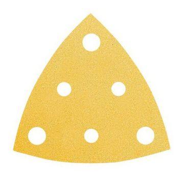 MIRKA Delta-Scheiben Gold 81 x 81 x 81 mm KLETT P240 6-Loch  VE=100 St. – Bild 1