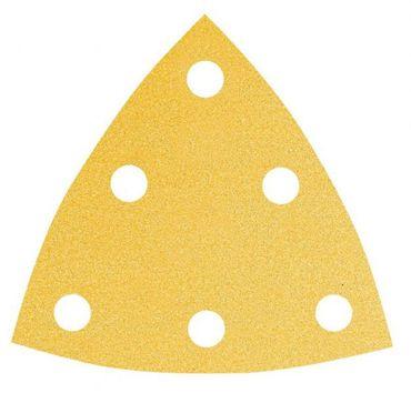 MIRKA Delta-Scheiben Gold 93 x 93 x 93 mm KLETT P80 6-Loch  VE=50 St. – Bild 1