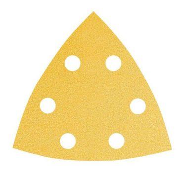 MIRKA Delta-Scheiben Gold 93 x 93 x 93 mm KLETT P60 6-Loch  VE=50 St.nicht mehr lieferbar ausverkauft – Bild 1