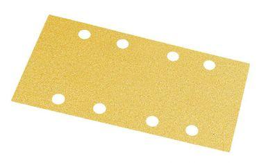 MIRKA Streifen Gold 93 x 180 mm Klett P120 8-fach gelocht (50 St)   – Bild 1