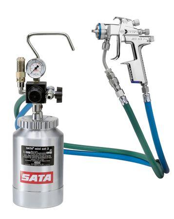 SATA mini set 2 mit SATAjet 3000 K RP Düse 1,1 Materialrohr,  Materialfilter 60 msh, Schlauchpaar 1,5 m, Einfachdruckminderer – Bild 2