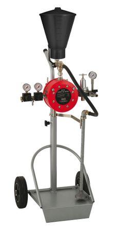 SATA vario top spray FFB, Doppelmembran-Pumpe 1:1, fahrbar, mit Fallbehälter, Materialfeindruckregler, Saugrohr, 1 Pistolenanschluss, ohne Pistole und Schläuche – Bild 1