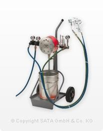 SATA vario top spray F, Doppelmembran-Pumpe 1:1, fahrbar, mit Materialfeindruckregler, Saugrohr und 2. Pistolenanschluss, ohne Pistole und Schläuche – Bild 1