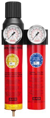 """SATA filter 444 L 2-stufiger Sinterfilter/Feinfilter, Druckregler, für Leitungseinbau (G 1/2"""" Innengewinde) – Bild 2"""