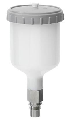 0,3 l QCC Kunststoff-Mehrwegbecher, kpl. [für SATAjet 5000, jet 4000, jet 1000, jet 100, jet 3000, minijet 4400, LM 2000] – Bild 1