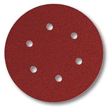 Schleifscheiben 150mm Coarse Cut Klebe P60 6-fach gelocht 100 Stück
