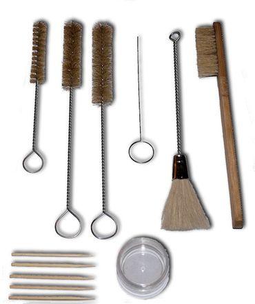 Reinigungsset 12 teilig für Lackierpistolen (Reinigung, Bürsten, Nadeln) – Bild 1