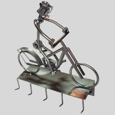 SCHRAUBENMÄNNCHEN Radfahrer Moped Schlüsselbrett – Bild 1