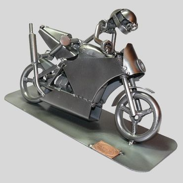 SCHRAUBENMÄNNCHEN Motorrad in Kurve