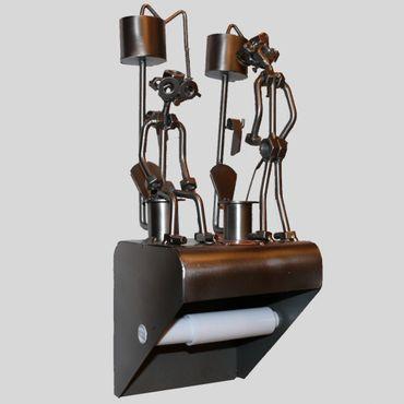 SCHRAUBENMÄNNCHEN Klopapierhalter Im Sitzen und im Stehen pinkeln – Bild 1