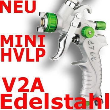 MINI HVLP Lackierpistole Spritzpistole 0,8mm V2A PROFI GREEN – Bild 1