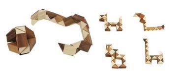 Dreieck Schlangen Puzzle - Multi Triangle Puzzle Holz Puzzle Knobel IQ-Spiel – Bild 2