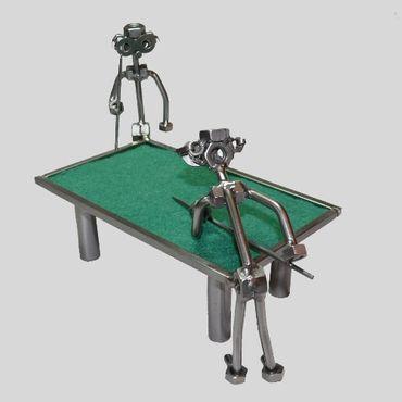 SCHRAUBENMÄNNCHEN Billardtisch mit zwei Billard Spielern – Bild 1
