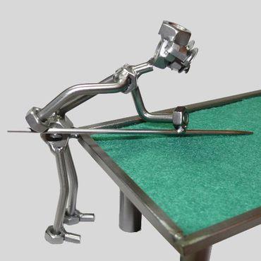 SCHRAUBENMÄNNCHEN Billardtisch mit zwei Billard Spielern – Bild 3