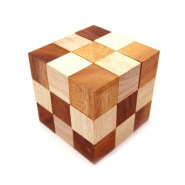 Schlangenwürfel Puzzle Holz Puzzle Knobel IQ-Spiel – Bild 1