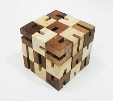Cobra Puzzle Würfel Holz Puzzle Knobel IQ-Spiel – Bild 1