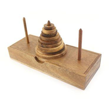 Der Turm von Hanoi, Wanderturm 9 Ringe Holz Puzzle Knobel IQ-Spiel – Bild 2