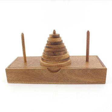 Der Turm von Hanoi, Wanderturm 9 Ringe Holz Puzzle Knobel IQ-Spiel – Bild 4