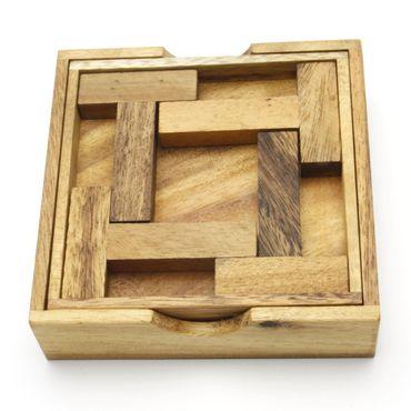 Das 4 T Puzzle Legespiel Holz Puzzle Knobel IQ-Spiel – Bild 1