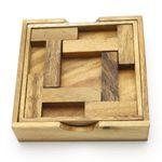Das 4 T Puzzle Legespiel Holz Puzzle Knobel IQ-Spiel 001