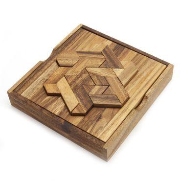 Star Puzzle Box, Sternenpuzzle Legespiel Holz Puzzle Knobel IQ-Spiel – Bild 1