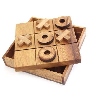 Tic-Tac-Toe Spiel Legespiel Holz Puzzle Knobel IQ-Spiel – Bild 1