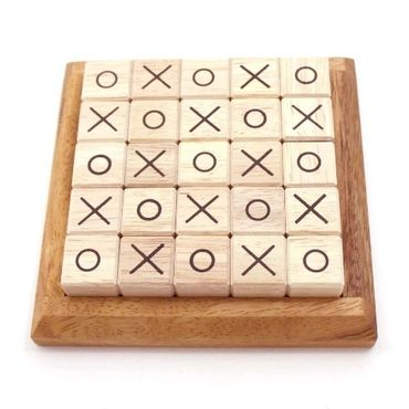 Tic-Tac-Toe Puzzle Legespiel Holz Puzzle Knobel IQ-Spiel – Bild 2