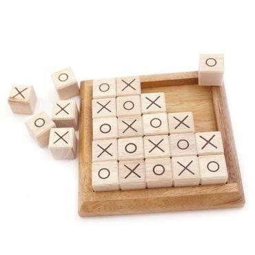 Tic-Tac-Toe Puzzle Legespiel Holz Puzzle Knobel IQ-Spiel – Bild 3