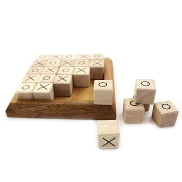Tic-Tac-Toe Puzzle Legespiel Holz Puzzle Knobel IQ-Spiel – Bild 5