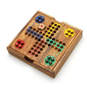 Taschen Pocket Ludo, Holz Puzzle Knobel IQ-Spiel – Bild 1