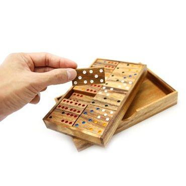 6er Domino Holz Puzzle Knobel IQ-Spiel – Bild 2