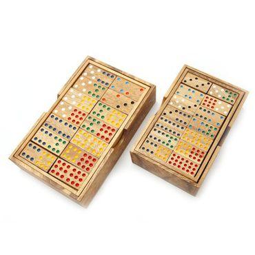 9er Domino Holz Puzzle Knobel IQ-Spiel