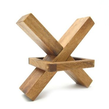 Kreuz - Cross Out Holz Puzzle Knobel IQ-Spiel