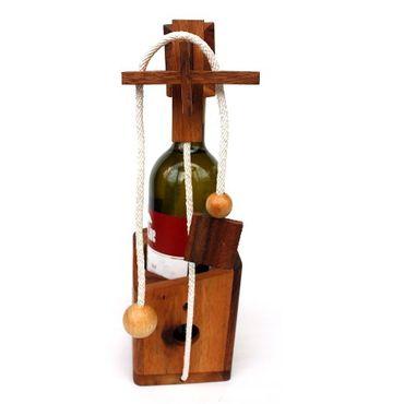Flasche Weinflaschenhalter A Holz Puzzle Knobel IQ-Spiel – Bild 1