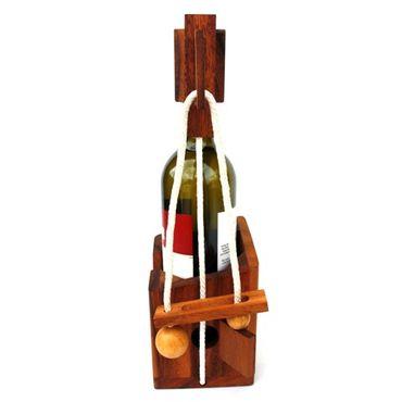 Flasche Weinflaschenhalter B Holz Puzzle Knobel IQ-Spiel – Bild 1