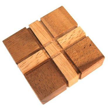 Das X Quadrat Spiel - X Square Game Holz Puzzle Knobel IQ-Spiel – Bild 1