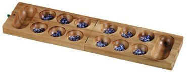 Mancala, Kalaha exklusive, Bohnenspiel Holz Puzzle Knobel IQ-Spiel