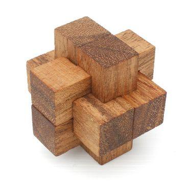 Mini Teufelsknoten Notto Burr Puzzle  Würfel Holz Puzzle Knobel IQ-Spiel
