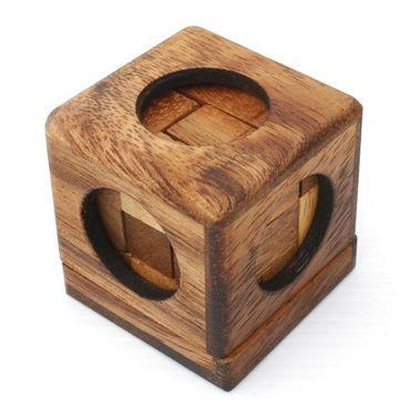 Mini Soma Würfel 3D (S) - Soma Cube Holz Puzzle Knobel IQ-Spiel