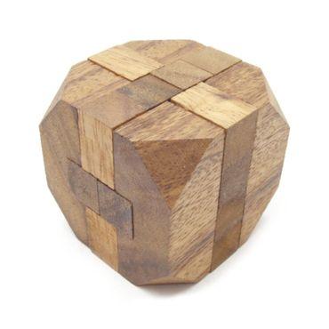 Mini Rauten Puzzle, Diamant Puzzle Würfel Holz Puzzle Knobel IQ-Spiel – Bild 1
