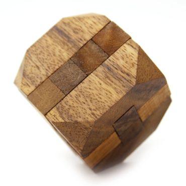 Mini Rauten Puzzle, Diamant Puzzle Würfel Holz Puzzle Knobel IQ-Spiel – Bild 2
