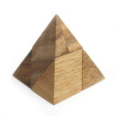 Mini Pyramide, Pyramiden Puzzle 5-teilig Holz Puzzle Knobel IQ-Spiel