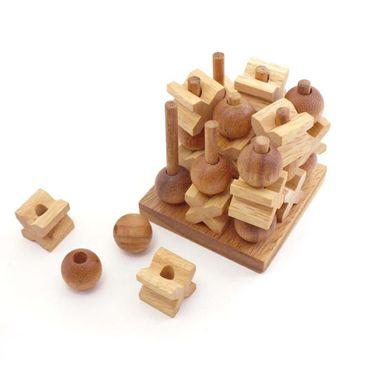 3D Tik-Tak-Toe Holz Puzzle Knobel IQ-Spiel – Bild 2