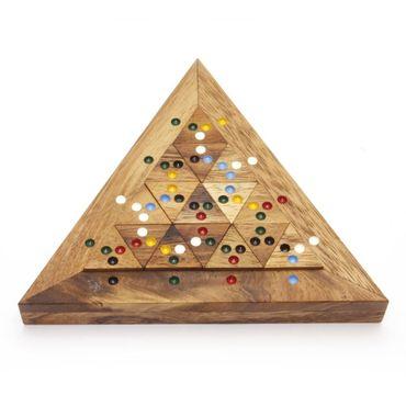 Triangle Match Dreieck Schlacht Holz Puzzle Knobel IQ-Spiel