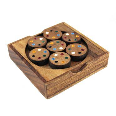 Cycle Match Kreis Schlacht Holz Puzzle Knobel IQ-Spiel – Bild 1
