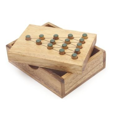 Der letzte Kämpfer Solitär Holz Puzzle Knobel IQ-Spiel – Bild 1