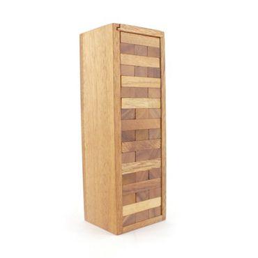 Jenga, Holzturm, Wackelturm Holz Puzzle Knobel IQ-Spiel S – Bild 1