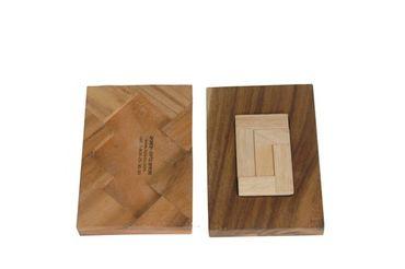 Das 3 'L' Puzzle Legepuzzle Holz Puzzle Knobel IQ-Spiel – Bild 1